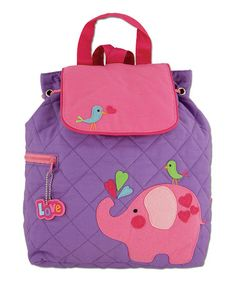Another great find on #zulily! Elephant Quilted Backpack #zulilyfinds