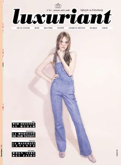 """Luxuriant Magazine featured the High-Waist Cuff Short, Vinyl A-line Skirt  and Sparkle Pantyhose in their story """"Sweet Sixties"""" for July/August 2016."""