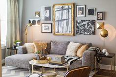 Nada melhor do que começar o ano com uma sala de estar cheia de boas energias e com as cores favoritas. A paleta de cinzas, pre...