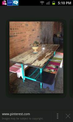 Diy door dining table