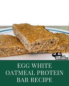 knife making easy Protein Bar Recipes, Easy Smoothie Recipes, Oatmeal Recipes, Protein Bars, Dessert Recipes, High Protein, Desserts, Egg White Oatmeal, Oatmeal And Eggs