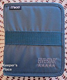 Mead Five Star Little Day Planner Organizer With Zipper Dark Green Address Book #Mead