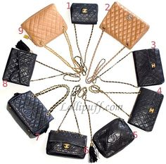 Can you spot the fake Chanel bag? 8 authentic bags, and one 1 authentic. Go to Lollipuff to find out the answer!