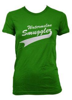Women's Watermelon Smuggler Pregnant Mom Shirt funny maternity tshirt pregnancy « Clothing Impulse