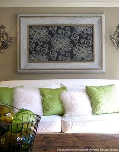 Beautiful Wall Art Ideas for DIY Decorating - Wall Stencils   Royal Design Studio