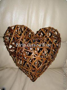 Это мой усовершенствованный  и уже немного систематизированный вариант плетенного сердца. фото 6