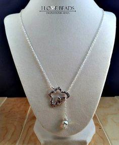 Butterfly lariat necklace-swarovski lariat necklace- butterfly necklace-butterfly jewelry- silver necklace-Swarovski pearl-y necklaces