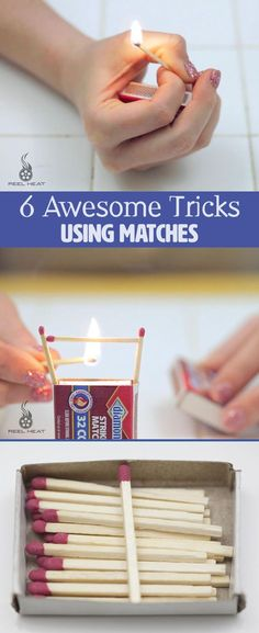 Here's another set of tricks using matches to impress your family and friends!