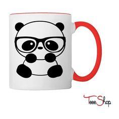Nerd Panda Coffee Tea Mug ❤ liked on Polyvore featuring home, kitchen & dining, drinkware, coffee mugs, panda coffee mug, tea mug, coffee tea mugs and panda mug