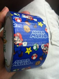Super Mario Duct tape, want , now Super Mario Toys, Super Mario World, Mario Brothers, Mario Bros, Duct Tape Funny, Just For Gags, Mario Party, Nerd Love, Duck Tape