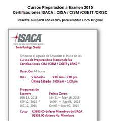 Certificaciones ISACA - Cursos 2015 : CISA / CISM /CGEIT y CRISC - Publicidad