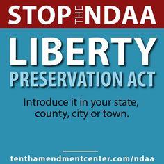 Nullify NDAA: http://tenthamendmentcenter.com/ndaa