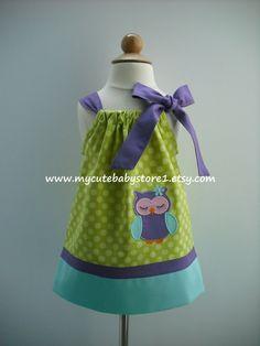 Cute Owl Girl Pillowcase Dress
