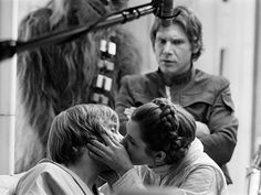 66 Behind the Scenes Pics from THE EMPIRE STRIKES BACK - I love Harrison Ford's face in the back.