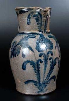 Planting Tulips, Antique Stoneware, Plant Design, Auction, Pottery, Antiques, Floral, Decoration, Virginia