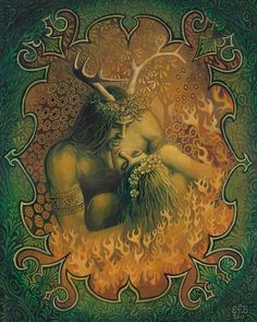 I am sure I've pinned this before, but it's so lovely!   Beltane Reunion  Pagan God and Goddess