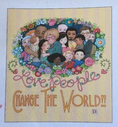 Love People-Handmade Fridge Magnet-Mary Engelbreit Artwork | Collectibles, Decorative Collectibles, Decorative Collectible Brands | eBay!
