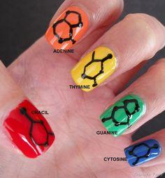 Molecular Nail - Nucleotide Skittles!