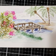 Art Impressions Stamps, Watercolor Landscape Paintings, Paint Party, Watercolor Cards, Simple Art, Flower Cards, Art Drawings, Art Projects, Bridges