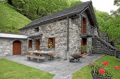 Typical Stone house in Tessin Switzerland