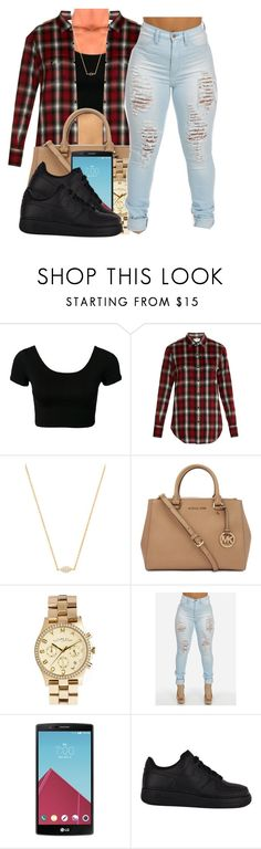 """""""112015"""" by polyvoreitems5 ❤ liked on Polyvore featuring Yves Saint Laurent, Gorjana, Michael Kors, Marc by Marc Jacobs, LG and NIKE"""