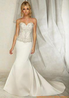 Schlicht Bodenlange Brautkleid 2013 mit Herzausschnitt