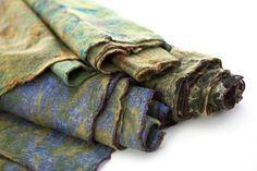 Felted vintage sari scarves.