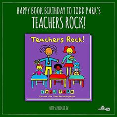 Author Todd Parr sent all teachers a love letter via his new book, TEACHERS ROCK! Watch his interview with Rocco Staino on 'StoryMakers'. Watch the interview - http://kidlit.tv/ToddParrStoryMakers  Do you have a teacher who rocks? Share your story with us on Instagram, Facebook, or Twitter.