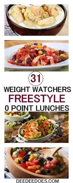 31 fantastic satisfying Weight Watchers Freestyle 0 Point Lunch recipes