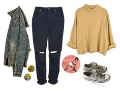 """""""teenage dirtbag"""" by unpleasantunicorn ❤ liked on Polyvore featuring Converse and Topshop"""