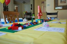 Lego Party Table scape
