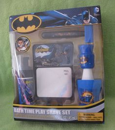 New in Package Batman Bath Time Play Shave Set, 5 pc #DCComics