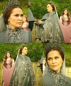 muhtesem yuzyil kosem, magnificent century kosem, safiye sultan, grey cape - silver detailing