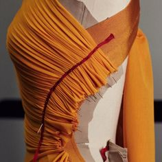 Draping and Moulage | The Cutting Class. Progress image of draping on a Hervé L. Leroux garment for couture SS13.