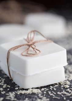 Making your own soap couldn't be easier! This Coconut Shea Butter Soap smells heavenly and feels luxurious on your skin.