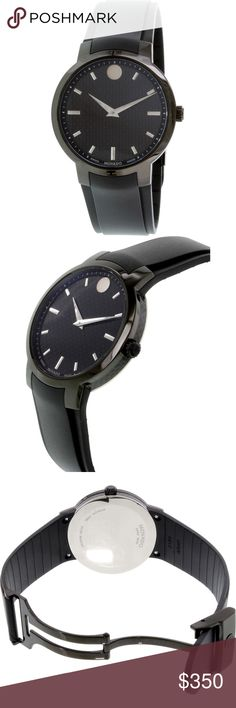 Movado-Men-039-s-Gravity-0606849-Black-Rubbe Product Description  Catalog #1681939179  Movado brings us this Gravity watch that emits elegance and class. Besides its stylish black rubber band and chic 42MM stainless steel case, this watch has security features such as the 30 meters / 100 feet / 3 atm water resistance and anti-reflective sapphire crystal that are sure to help protect it. The black dial ties everything together and looks wonderful. Movado Accessories Watches