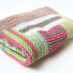 Grannycore Baby Blanket Knitting Pattern I LOVE Log Cabin Knitting.