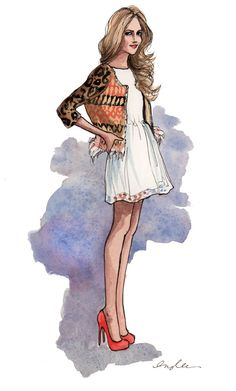 MID WINTER LWD. Sketch, illustration, fashion.