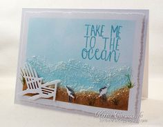Take Me to the Ocean card by Kittie Caracciolo