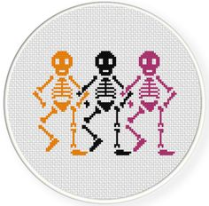 Skele-dancers PDF Cross Stitch Pattern Needlecraft Instant