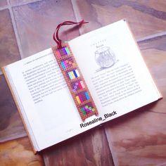 Bookshelf perler bead bookmark made and designed by Rosealine Black
