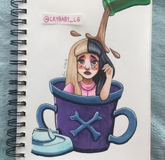 Image in Little Body Big Heart💕💕 collection by kyuumoi Melanie Martinez Mad Hatter, Only Melanie, Melanie Martinez Drawings, Fire Drill, Fandom, Kawaii Art, Drawing Poses, Cry Baby, Music Artists
