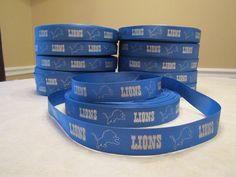 5 Yards of Detriot Lions Grosgrain Ribbon-7//8 inch