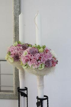 design floral exclusivist, lumanare de botez pentru fetite