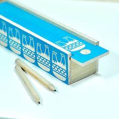 Screen Printed Wooden Pencil Box