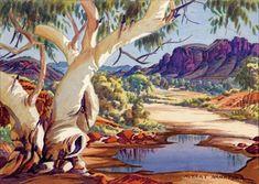 Solve waterhole in the Macdonnell Ranges by Albert Namatjira jigsaw puzzle online with 88 pieces Art Tutorials Watercolor, Australian Artists, Cool Artwork, Art For Art Sake, Painter, Types Of Art, Australian Painting, Art, Landscape Art