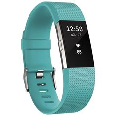 Fitbit 'Charge 2' Wireless Activity & Heart Rate Tracker ($150) ❤ liked on Polyvore featuring jewelry, teal, heart shaped jewelry, sports jewelry, heart jewelry, heart jewellery and fitbit