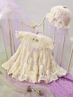 Beautiful Baby Boutique II includes 9 adorable baby crochet pattern sets, including 4 dress sets and 5 layette sets. Crochet Bebe, Baby Girl Crochet, Crochet Baby Clothes, Crochet For Kids, Free Crochet, Baby Dress Patterns, Crochet Patterns, Baby Galerie, Baby Pullover