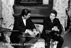 Dylan and Cash at The Ryman. By the great Jim Marshall