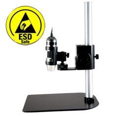 http://www.termometer.se/Dino-Lite-Pro-hallare-vridbar-360-grader-metall-ESD-skydd.html  Dino-Lite Pro hållare, vridbar 360 grader, metall, ESD-skydd  Ett ESD-skyddat stativ som lämpar sig utmärkt för samtliga Dino-Lite-modeller med metallhölje. Speciellt för elektronikarbete. Ett professionellt stativ i aluminium. Ratt för att justera fokus. En kulled möjliggör att hållaren för Dino-Lite kan justeras 45 grader med en rotatation på 360 grader för stor flexibilitet...